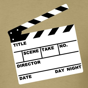 Khaki clapperboard (writable flex) Men - Men's T-Shirt