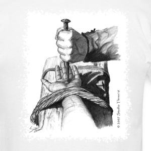 "Logo/""Hand of Christ"" - Men's T-Shirt"