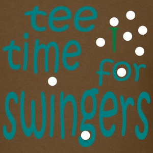 Brown Tee Time for Swingers With Golf Tee and Balls Men - Men's T-Shirt