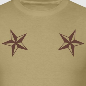 Khaki dual_nautical_stars Men - Men's T-Shirt