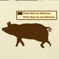 Design ~ Pig Butchering Guide - Cotton Tote Bag - 2013 SALE!