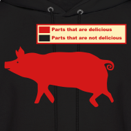 Design ~ Pig Butchering Guide - Hoodie - 2013 SALE!