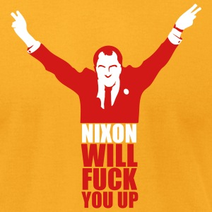Gold Nixon Will F*** You Up Men - Men's T-Shirt by American Apparel