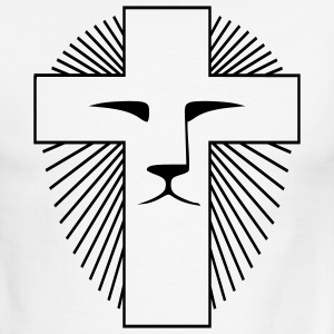 White/black Lion of Judah Men - Men's Ringer T-Shirt