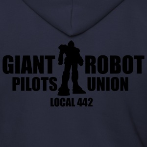 Ash  Giant Robot Pilot's Union Men - Men's Zip Hoodie