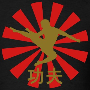 Black kung fu Men - Men's T-Shirt