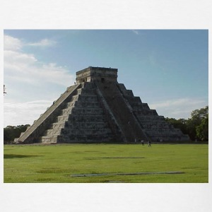 White Chichen Itza Pyramid Men - Men's T-Shirt