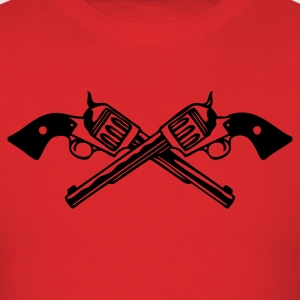 Red six_guns_low Men - Men's T-Shirt