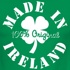 Green/white Made In Ireland Men - Men's Ringer T-Shirt