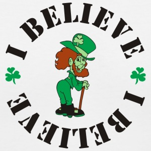 White I Believe ~ Leprechauns Women - Women's V-Neck T-Shirt