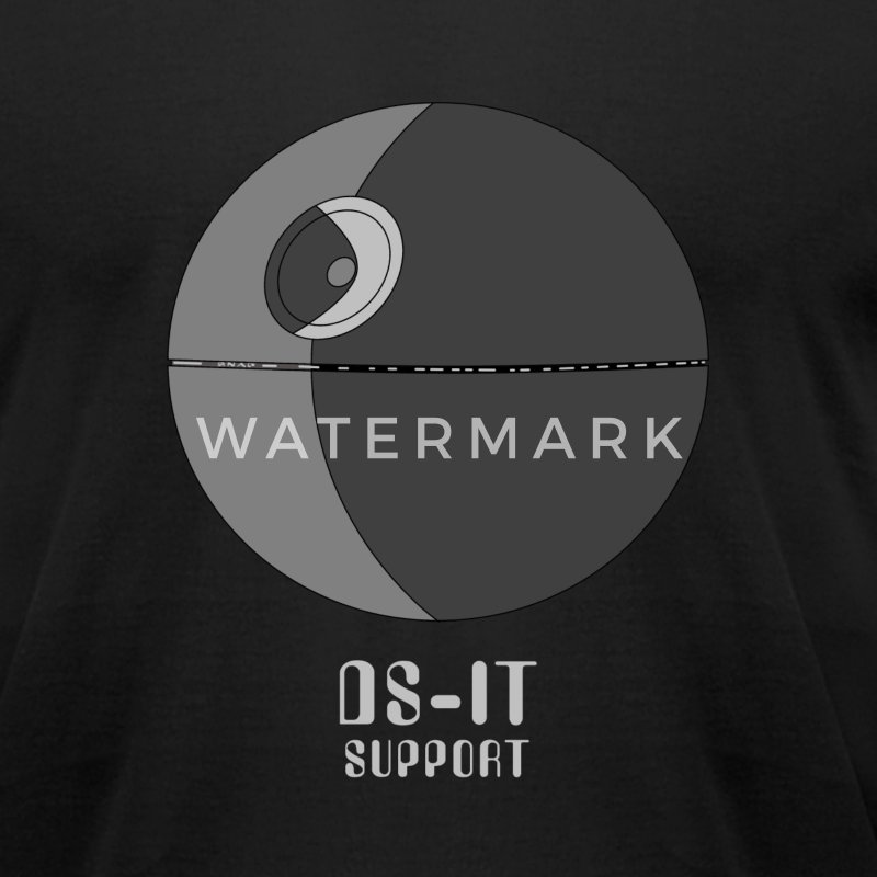 Black DS-IT Support Men - Men's T-Shirt by American Apparel