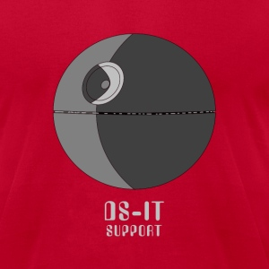 Red DS-IT Support Men - Men's T-Shirt by American Apparel