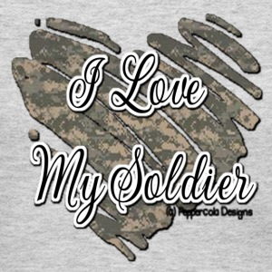 Gray Soldier Heart Women - Women's Long Sleeve Jersey T-Shirt