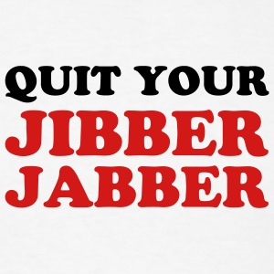 White Jibber Jabber Men - Men's T-Shirt