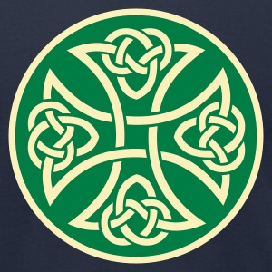 irish_celtic_green_cross_3 - Men's T-Shirt by American Apparel