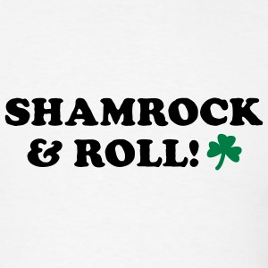 White Shamrock & Roll Men - Men's T-Shirt