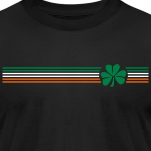 Irish Shamrock Flag - Men's T-Shirt by American Apparel