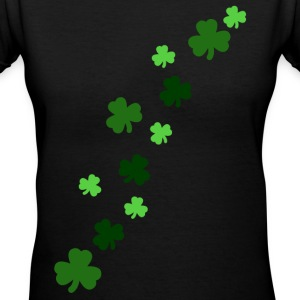Shamrock Design - Women's V-Neck T-Shirt