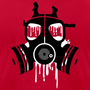 Red gasmask Men - Men's T-Shirt by American Apparel