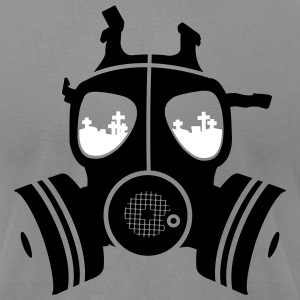 Slate gasmask Men - Men's T-Shirt by American Apparel