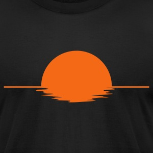 Black Sundown Men - Men's T-Shirt by American Apparel