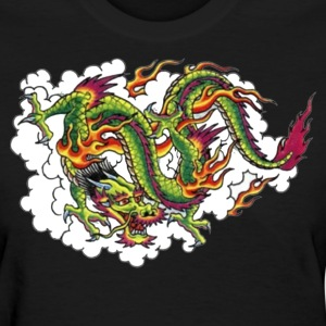 Black chinesedragon Women - Women's T-Shirt