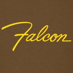 Brown Ford Falcon script emblem - AUTONAUT.com T-Shirts