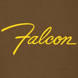 Brown Ford Falcon script emblem - AUTONAUT.com T-Shirts - Men's T-Shirt