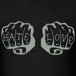 FIST OF LOVE AND HATE by VAN TRIBE  - Men's T-Shirt