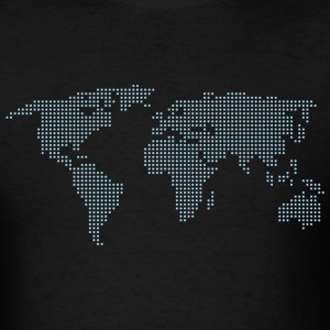 Black Dot Matrix World Men - Men's T-Shirt