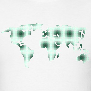 White Dot Matrix World Men - Men's T-Shirt