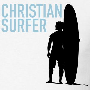White Christian Surfer Men - Men's T-Shirt
