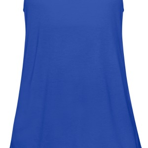 Royal blue pi Men - Women's Flowy Tank Top by Bella