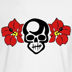 White THE HULA SKULL by VAN TRIBE Men - Men's Long Sleeve T-Shirt