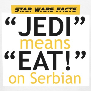 SW facts - Jedi means Eat on Serbian - Men's T-Shirt