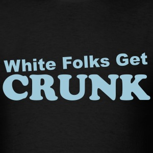 White Folks Get Crunk Logo T - Cyan - Men's T-Shirt