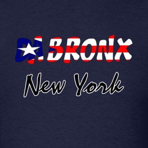 Navy Bronx, NY Puerto Rico Flag Men - Men's T-Shirt