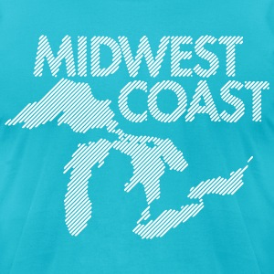Midwest Coast - Blue - Men's T-Shirt by American Apparel