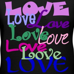 Love, Love, Love - Women's V-Neck T-Shirt