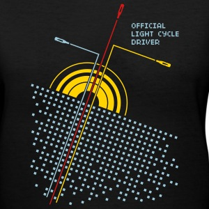 Black Official light cycle driver Women - Women's V-Neck T-Shirt