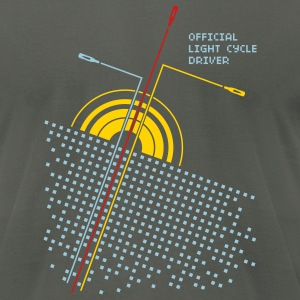 Asphalt Official light cycle driver Men - Men's T-Shirt by American Apparel