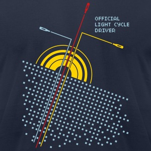 Navy Official light cycle driver Men - Men's T-Shirt by American Apparel