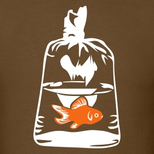 Brown Goldfish Bag Men - Men's T-Shirt