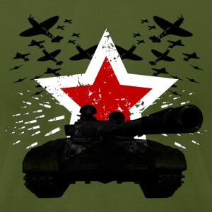 redstar tank - Men's T-Shirt by American Apparel
