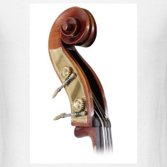 White double bass scroll Men