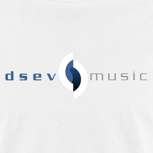 DSEV Men's white simple logo2 f&b