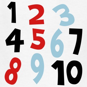 White Numbers 1 - 10 Without Background Kids & Baby - Kids' T-Shirt