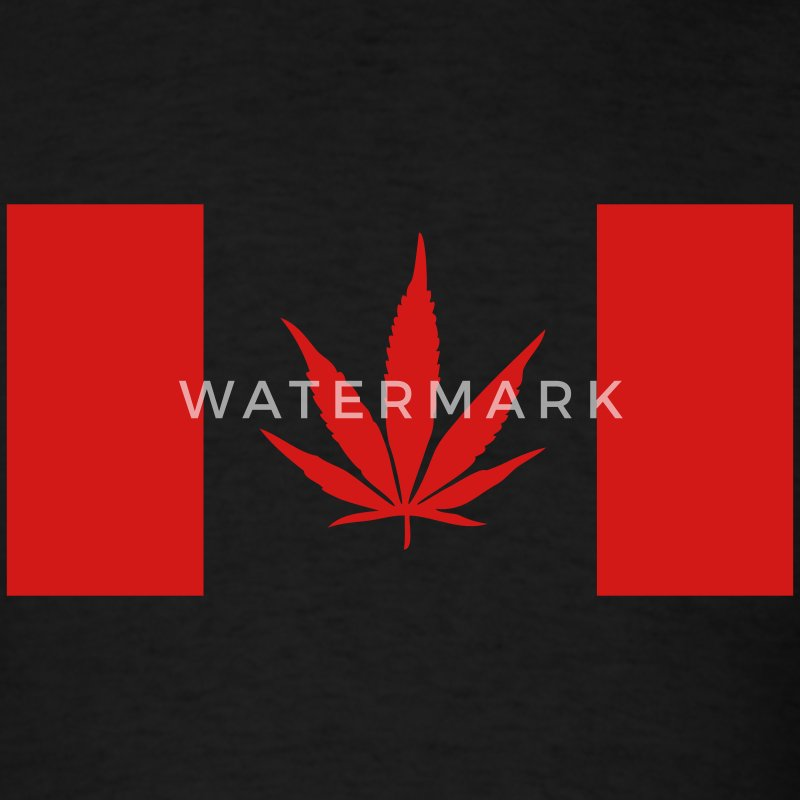 Canada Weed Flag - Men's T-Shirt