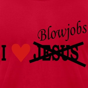 Pink I love Blowjobs - Heart Men - Men's T-Shirt by American Apparel