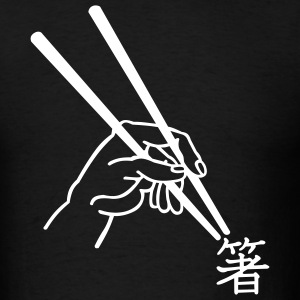 Black Chopsticks - Japanese Men - Men's T-Shirt